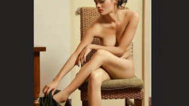 Skinny Model Wearing Shidur Vabi's collection part 9