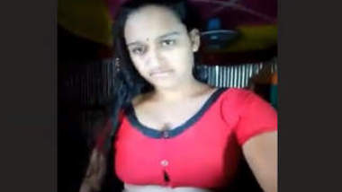 Bangladeshi Village Girl Showing Boob and Fingering