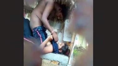 Daring village couple fucking at public place