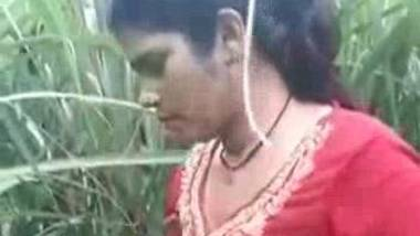 Dehati outdoor stripping before sex