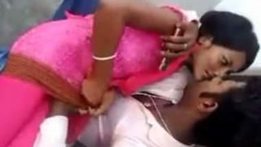 Desi Young Couple Outdoor Romance