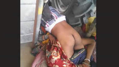 Couple fucking in khet near tractor