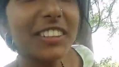 Nipple play with village randi outdoor sex
