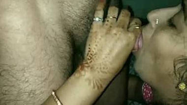 sexy Indian wife sucking cock deeply