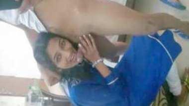 Indian Punjabi Office girl Simran sucking Boss dick in hotel resort