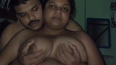 Chubby Indian couple romance fondling video