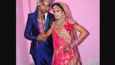 Nearly married desi couple first night fucking