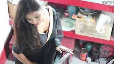 Jui Lahiri hot back exposing saree photoshoot