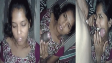 Desi girl giving nice blowjob MMS sex video
