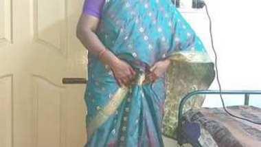 Desi telugu aunty show her boobs n pussy