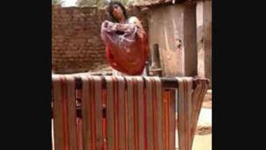 Desi village bhabi nude bath