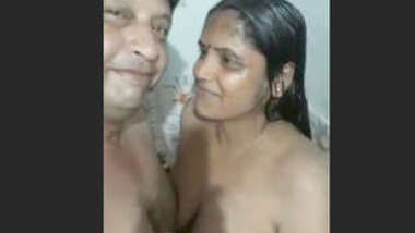 Bath with small brother hot wife