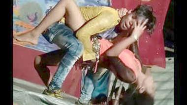 Desi village stage dance
