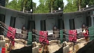 Voyeur sex video neighbor bhabhi washing pussy outdoors
