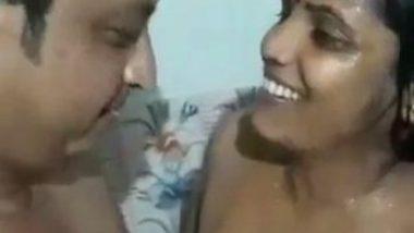 South Indian couple bathroom romance