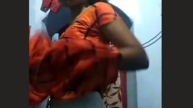 Tamil Bhabhi Self Recorded Dress changing