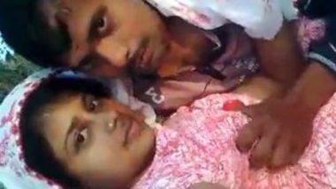Kissing and fonding boobs of bhabhi