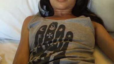 Desi Newly married NRI Wife Rubbing her pussy hard