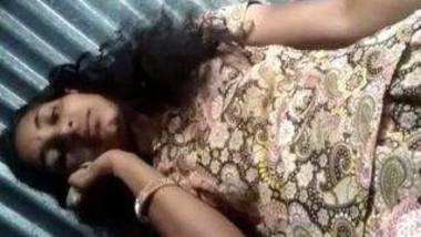 Indian village girl striptease nude clip