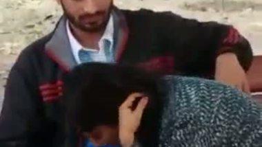 Desi sex video of a horny young couple enjoying outdoor sex