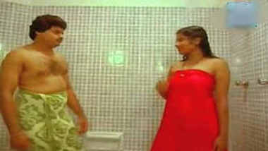 hot sexy song bathroom romance navel sharp boobs