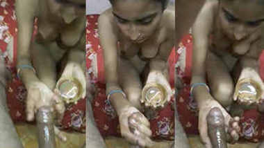 desi girl hot handjob