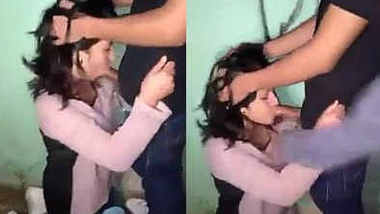 Desi Girl Giving BJ To BF Infront Of His Friend