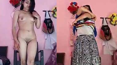 Indian girl Strip Her Cloths Selfie