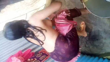 Indian Village Girl Filmed Taking Shower