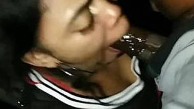 Sexy WIfe Nut in her Mouth and Fuck in the Car