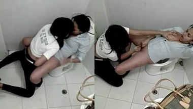 desi girls fingring in public toilet
