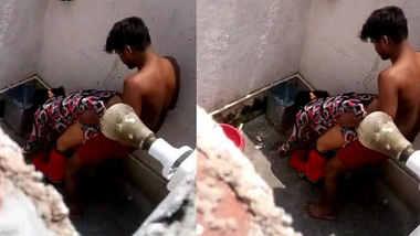 Desi bhabhi caught fucking in bathroom with devar