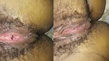 Housewife hand job then fucked with Hindi audio & moaning creampie