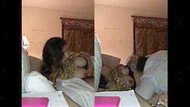 paki wife with hubby and one solo video