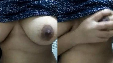 Cute Gf play with Her Tits