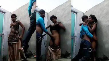 Indian Sex XXX ! Desi village lover outdoor romance