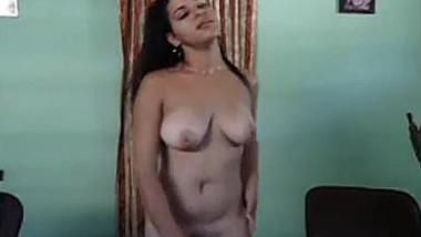 Naked cute girl dance self cam
