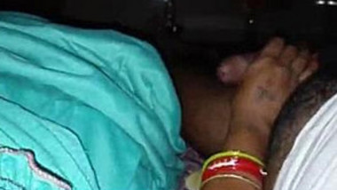 Indian Wife Boob pressing and Handjob
