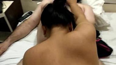 Delhi wife sucking hubby's cock, Bull fucks her from behind