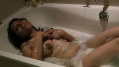 Sexy girl bathtub fun