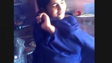School girl after school
