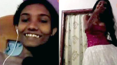 Desi teen showing on video call to lover part 1