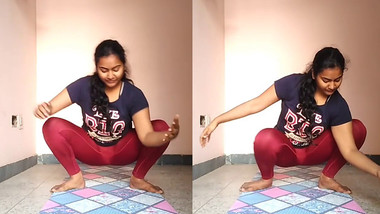 desi mallu girl showing her yoga