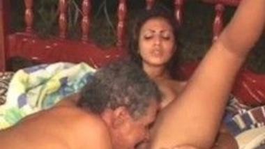 Desi Teen Big tits girl gets fucked by Old Teacher