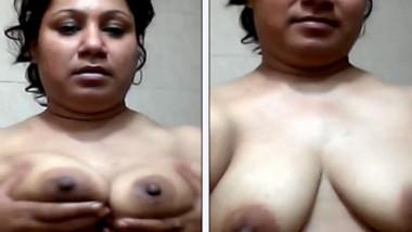 Indian Fatty Sharmin girl boob tease