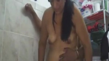 Hardcore home sex video of desi mature wife in bathroom