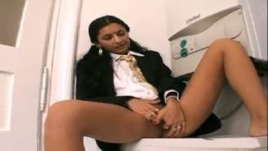 Horny And Hot Indian Office Girl Masturbating In Kitchen