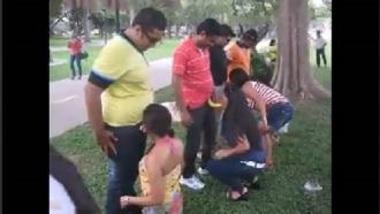 MMS Of Indian Enjoying Erotic Sex Game In Park