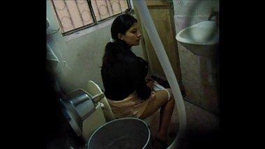 Sexy Telugu IT Girl Using Office Restroom