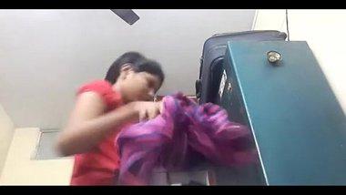 Hot bhabhi caught while changing bra